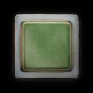 Тарелка мелкая декоративная 260х260 мм серый+зеленый Corone Tesoro