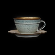 Чайная пара 210 мл серый+светло-коричневый Corone Tesoro