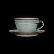 Чайная пара 210 мл серый+зеленый Corone Tesoro