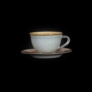 Кофейная пара 100 мл серый+светло-коричневый Corone Tesoro