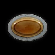 Блюдо овальное декоративное 272х186 мм серый+светло-коричневый Corone Tesoro