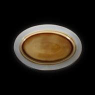 Блюдо овальное декоративное 330х230 мм серый+светло-коричневый Corone Tesoro