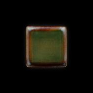 Тарелка квадратная 158х158 мм синий+зеленый Corone Verde