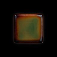 Тарелка квадратная 178х178 мм синий+зеленый Corone Verde