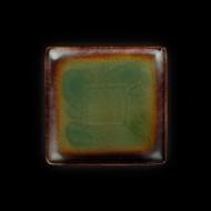 Тарелка квадратная 212х212 мм синий+зеленый Corone Verde