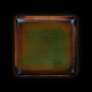 Тарелка квадратная 232х232 мм синий+зеленый Corone Verde