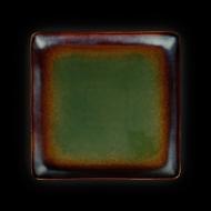 Тарелка квадратная 270х270 мм синий+зеленый Corone Verde