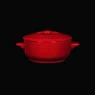 Горшок с крышкой 450 мл красный «Corone»