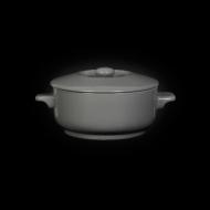Горшок с крышкой 450 мл серый «Corone»