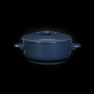 Горшок с крышкой 450 мл синий «Corone»