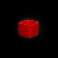 """Емкость для соуса квадратная 50мм 60мл красная """"Corone"""""""