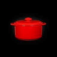 Горшок с крышкой 300 мл красный «Corone»