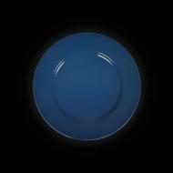 Тарелка мелкая 160 мм синяя «Corone»