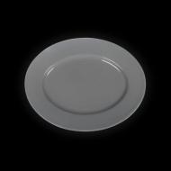 Блюдо овальное 202х160 мм серое «Corone»