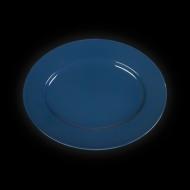 Блюдо овальное 202х160 мм синее «Corone»
