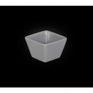 Емкость для соуса квадратная 63 мм серая «Corone»