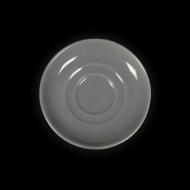 Блюдце круглое 112 мм серое «Corone»