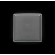 Тарелка квадратная 127 мм серая «Corone»