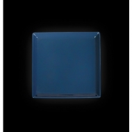 Тарелка квадратная 127 мм синяя «Corone»