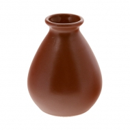 Ваза керам. для цветов 110мм ELGAVA Brown