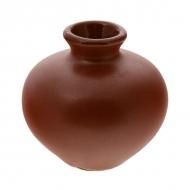 Ваза керам. для цветов  65мм  ELGAVA Brown