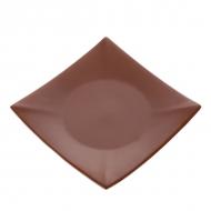 Тарелка керам. квадратная 190мм  ELGAVA Brown