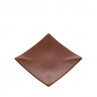 Тарелка керам. квадратная 125мм ELGAVA Brown
