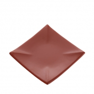 Тарелка керам. квадратная 155мм ELGAVA Brown