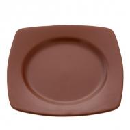 Тарелка керам. квадратная 20х20 d15  ELGAVA Brown