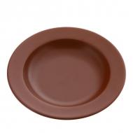 Тарелка керам. глуб. 220мм ELGAVA Brown