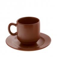 Кофейная пара керам. 150мл цилиндр.ELGAVA Brown