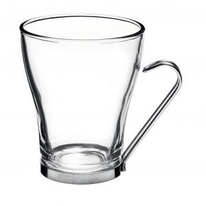Чашка 220 мл. d=82, h=96 мм с метал. подстакан. Осло Капучино /3/