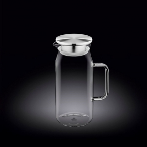 Кувшин 1 л с крышкой + сетка нерж Thermo Glass /1/18/
