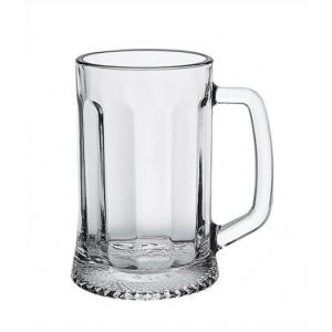 Кружка для пива 0,5 л. d=90, h=160 мм Ладья с гранями /9/432/