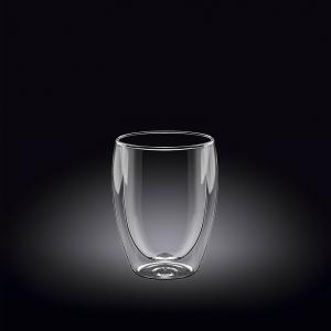 Стакан 130 мл. с двойными стенками Thermo Glass Wilmax /6/72/