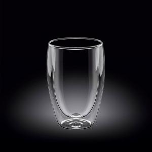 Стакан 300 мл. с двойными стенками Thermo Glass Wilmax /1/60/