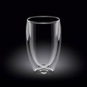 Стакан 400 мл. с двойными стенками Thermo Glass Wilmax /1/48/