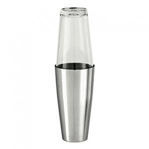 Шейкер 0,85 л. нерж. со стекл. стаканом Boston Bonzer