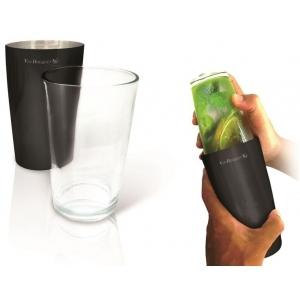 Шейкер 0,75 л. нерж. со стекл. стаканом Boston VB /10/