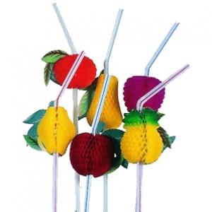 Зонтики, трубочки с украшениями, декорации