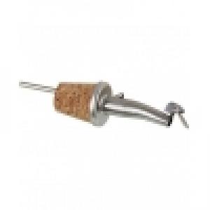 Гейзер металлический зауженный носик с крышечкой на пробк. основе 10 см. FM PRO /6/120/