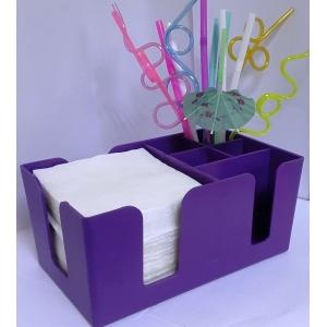 Подставка барная для салфеток и украшений фиолетовая MG /6/
