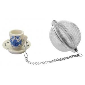 Ситечко для чая нерж. с ручкой 15 см. d=6 см. FM /6/144/