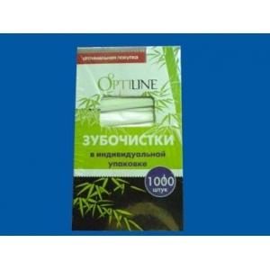 """Зубочистки в инд.уп. в бумаге """"OptiLine"""" 1000 шт/уп /50/* Z"""