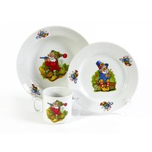 Набор посуды 3 предмета фарфор Лесовичок