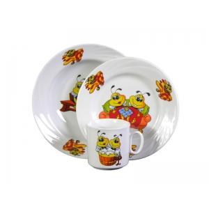 Набор посуды 3 предмета фарфор Пчелы