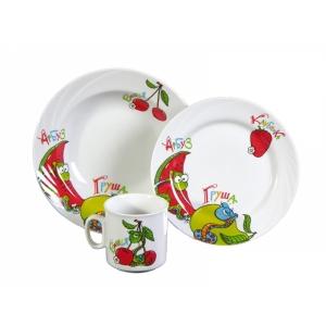 Набор посуды 3 предмета фарфор Поиграем