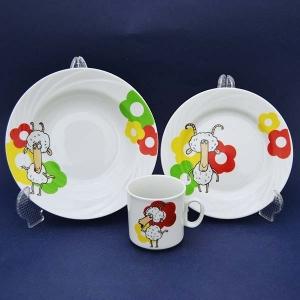Набор посуды 3 предмета фарфор Барашки