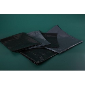Мешок для мусора 200л 90*130 см. 80 мкм черный в пластах(50шт) /1/100/200/
