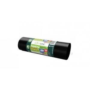 """Мешок для мусора 60л (25шт) 60*80 см. 10 мкм черный """"OptiLine"""" /1/1000/"""